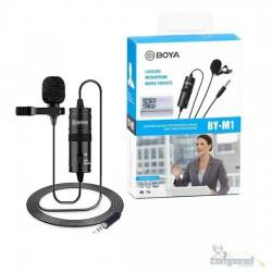 Microfone Boya BY-M1 condensador omnidirecional preto